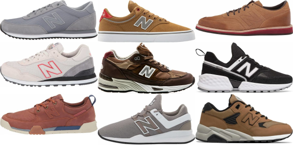 buy brown new balance sneakers for men and women
