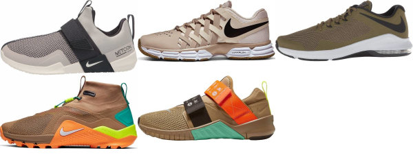buy brown nike training shoes for men and women