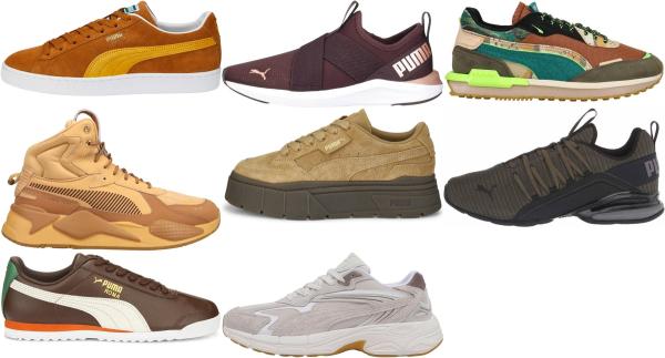 buy brown puma sneakers for men and women