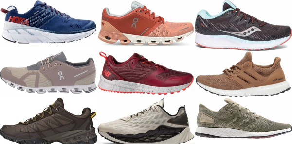 buy brown running shoes for men and women