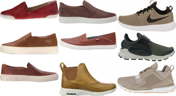 buy brown slip-on sneakers for men and women