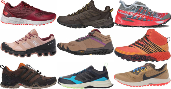 buy brown trail running shoes for men and women
