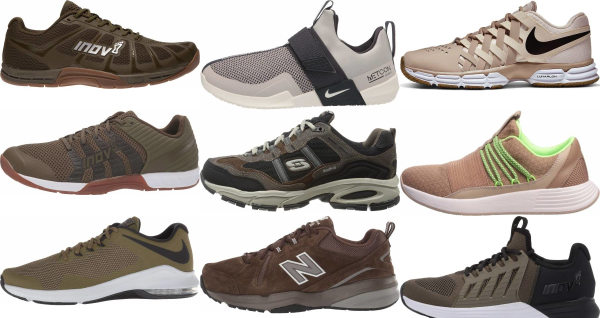 buy brown training shoes for men and women