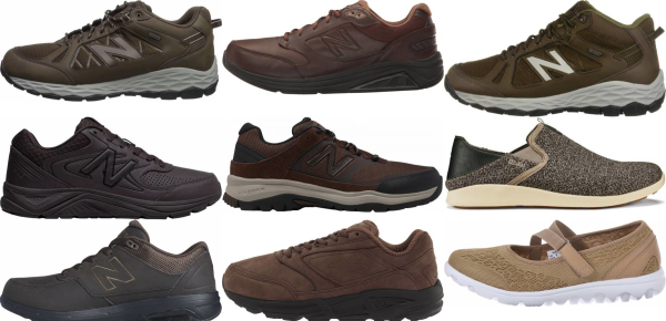 buy brown walking shoes for men and women