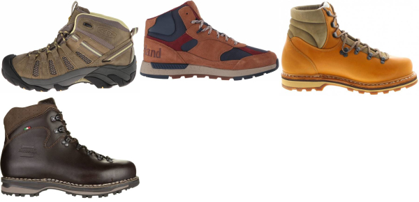 buy brown water repellent hiking boots for men and women