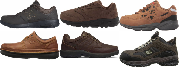 buy brown work walking shoes for men and women