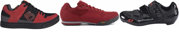 buy cheap red cycling shoes for men and women