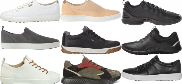 buy ecco leather sneakers for men and women
