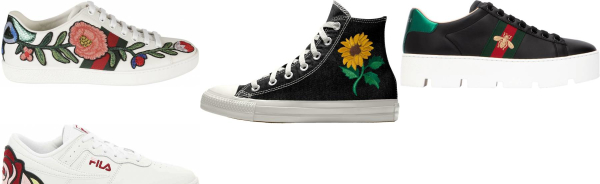 buy embroidered sneakers for men and women