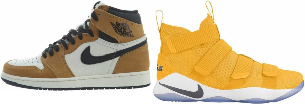 buy gold high basketball shoes for men and women