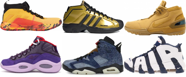 buy gold mid basketball shoes for men and women