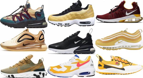 buy gold nike sneakers for men and women