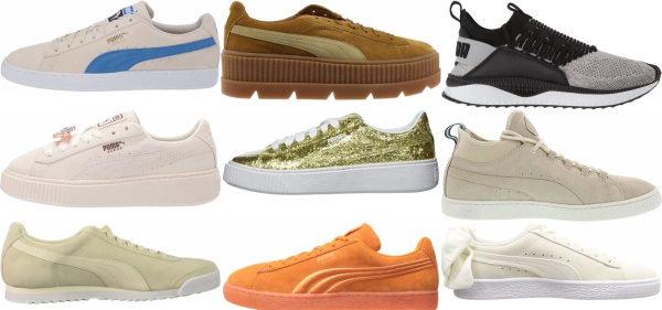 buy gold puma sneakers for men and women