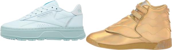 buy gold reebok sneakers for men and women