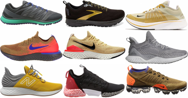 buy gold running shoes for men and women