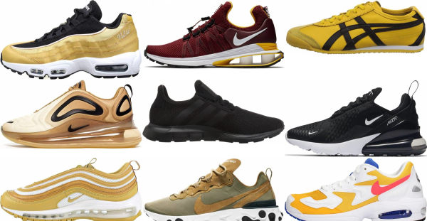 buy gold running sneakers for men and women