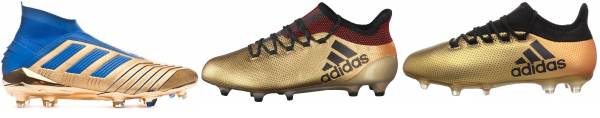 buy gold soccer cleats for men and women