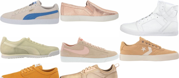 buy gold suede sneakers for men and women