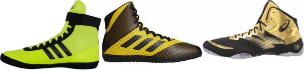 buy gold wrestling shoes for men and women