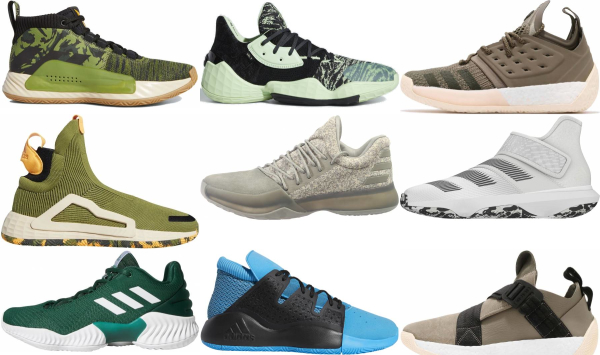 buy green adidas basketball shoes for men and women