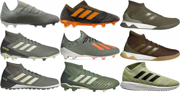 buy green adidas soccer cleats for men and women