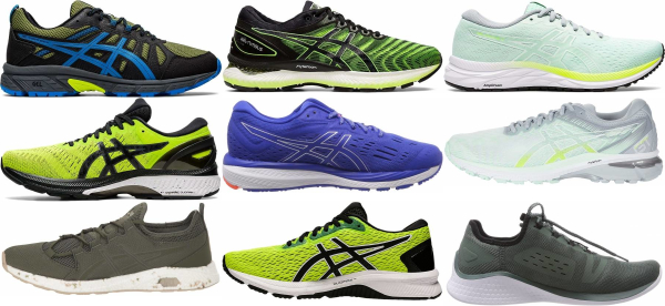 buy green asics running shoes for men and women