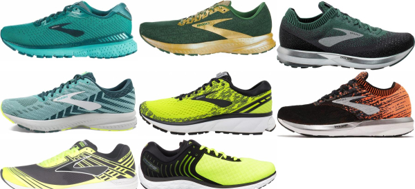 buy green brooks running shoes for men and women