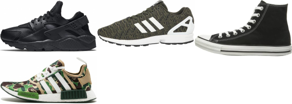 buy green camouflage sneakers for men and women
