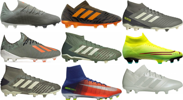 buy green firm ground soccer cleats for men and women