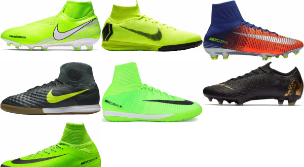 buy green flyknit  soccer cleats for men and women