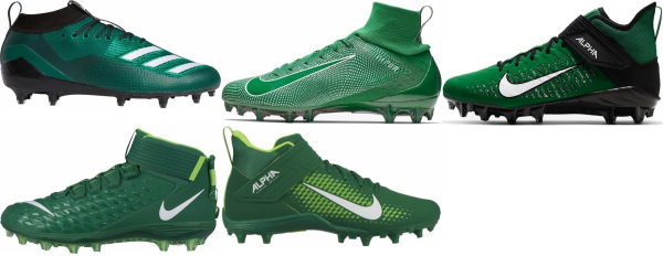 buy green football cleats for men and women