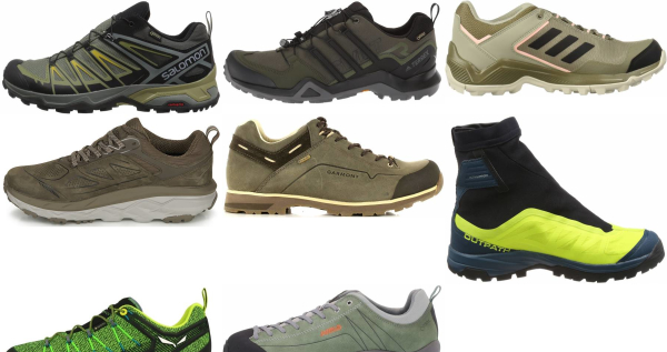 buy green gore-tex hiking shoes for men and women