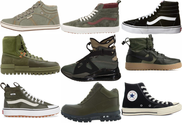 buy green high top sneakers for men and women
