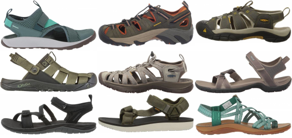 buy green hiking sandals for men and women