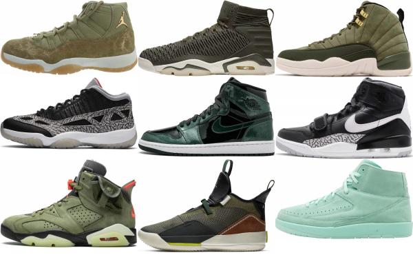 buy green jordan basketball shoes for men and women