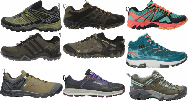 buy green lace up hiking shoes for men and women