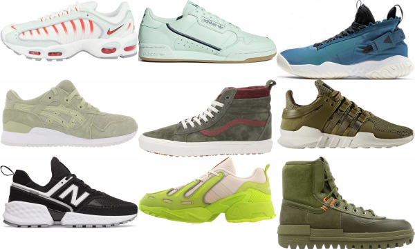 buy green leather sneakers for men and women
