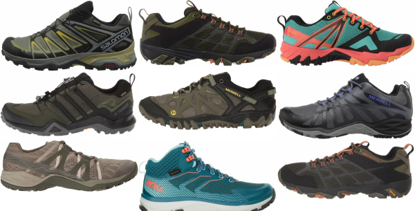 buy green lightweight hiking shoes for men and women