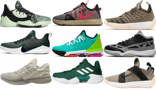 buy green low basketball shoes for men and women