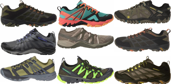 buy green merrell hiking shoes for men and women