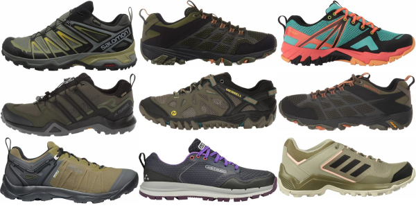 buy green mesh upper hiking shoes for men and women
