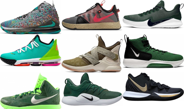 buy green nike basketball shoes for men and women