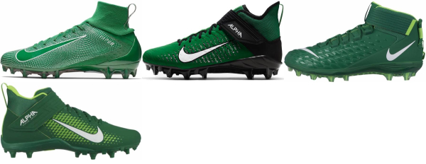 buy green nike football cleats for men and women