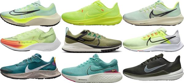 buy green nike running shoes for men and women