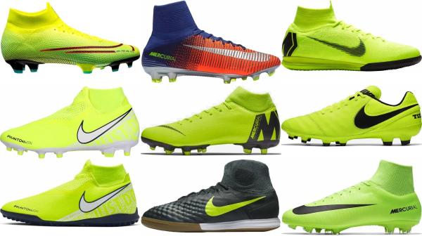 buy green nike soccer cleats for men and women