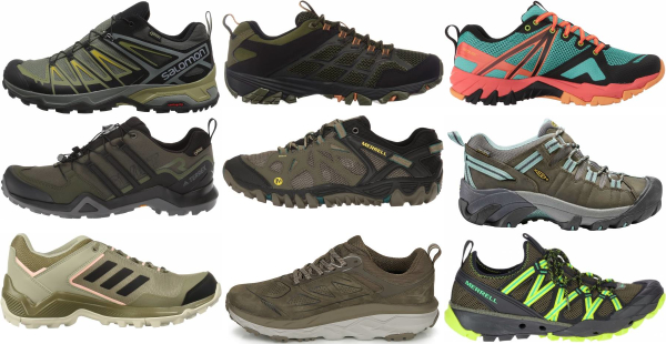 buy green orthotic friendly hiking shoes for men and women