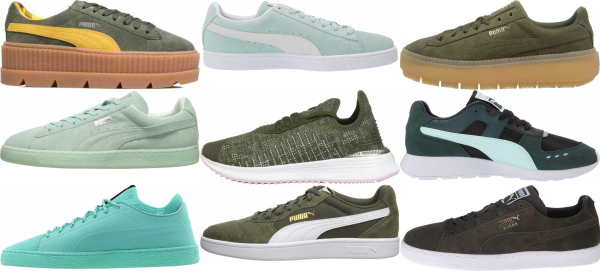 buy green puma sneakers for men and women