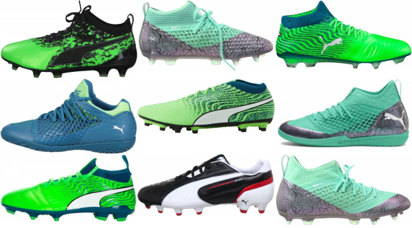 buy green puma soccer cleats for men and women