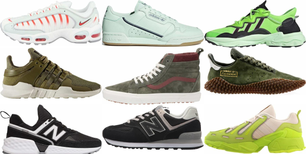 buy green retro sneakers for men and women