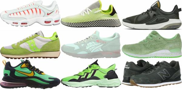 buy green running sneakers for men and women